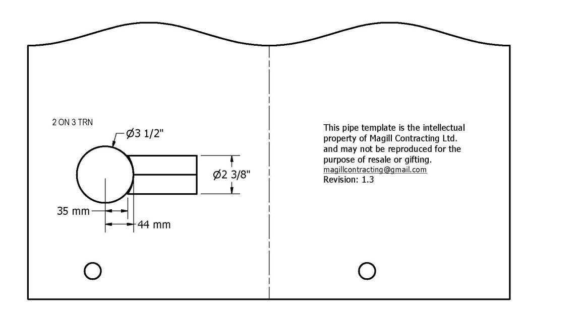 Pipe Templates Trunnions Degree Perpendicular - Pipe templates